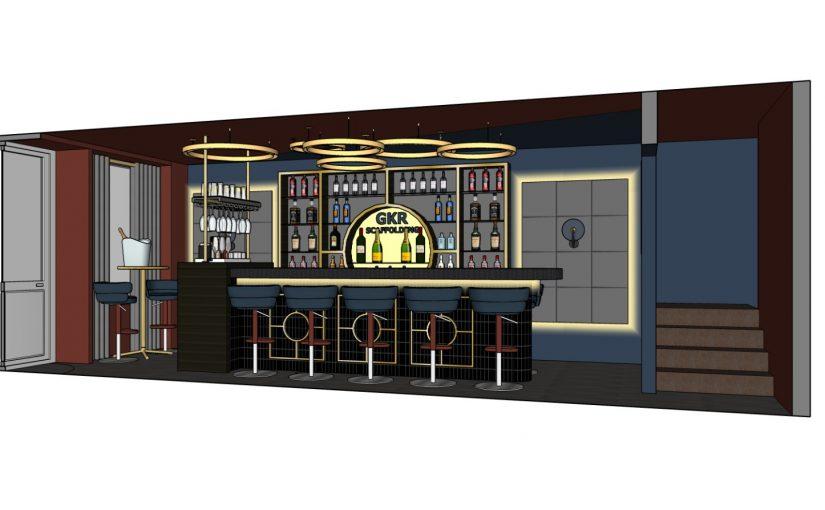 GKR Scaffolding office Bar fitout